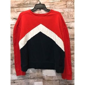 Aeropostale Red Blue White Sweater Sz Large